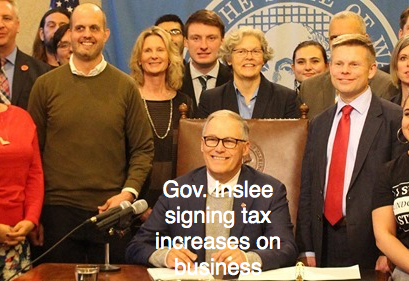 The Governor raises taxes in time of crisis