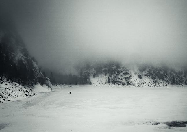 Lac blanc - Les marcheurs sur glace