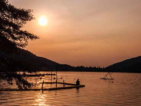 Belle ambiance en fin de journée au lac de Gérardmer