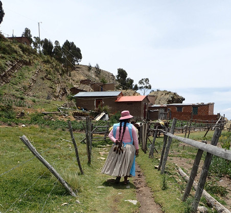 Isla del Sol - Coiffe typique des femmes boliviennes