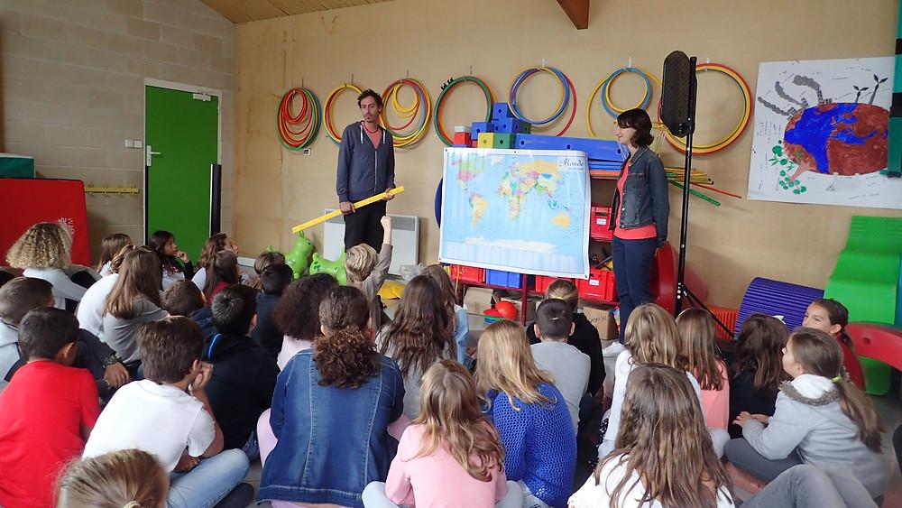 Présentation à l'école d'Ayguemorte