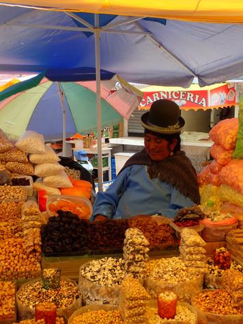 Le bombin, chapeau typique des femmes boliviennes
