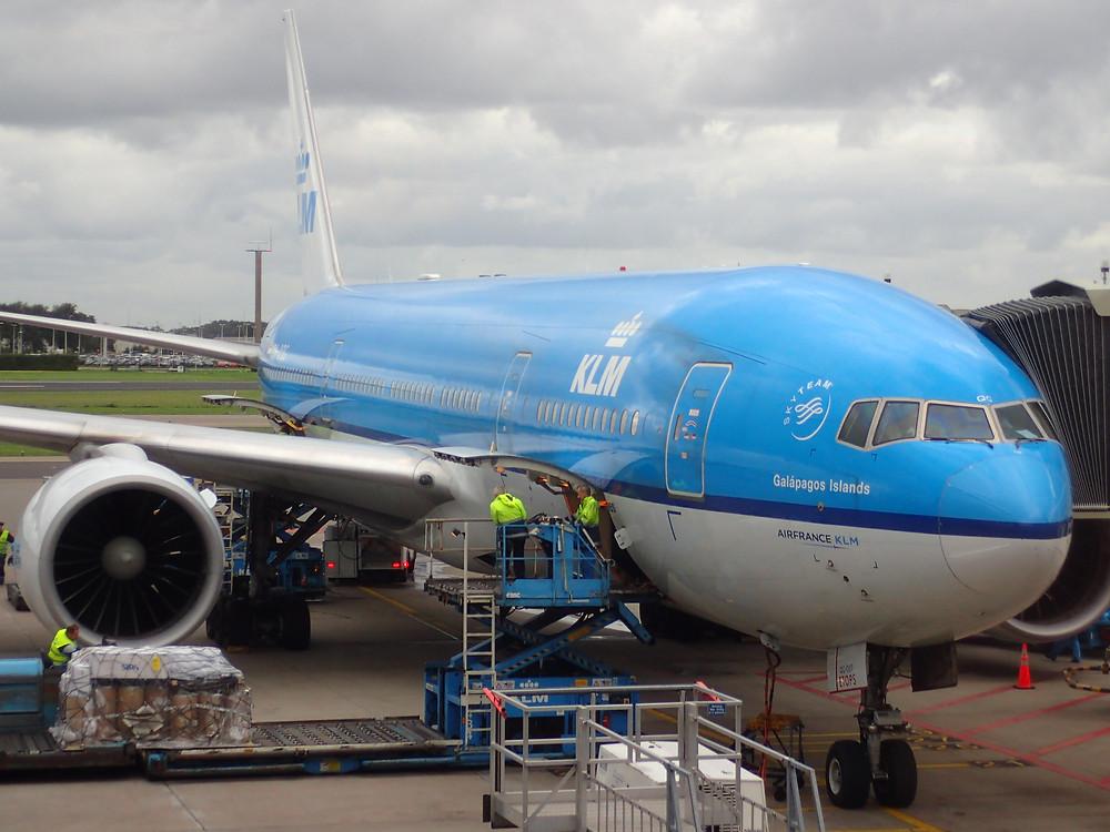 Avion KLM Galapagos Islands