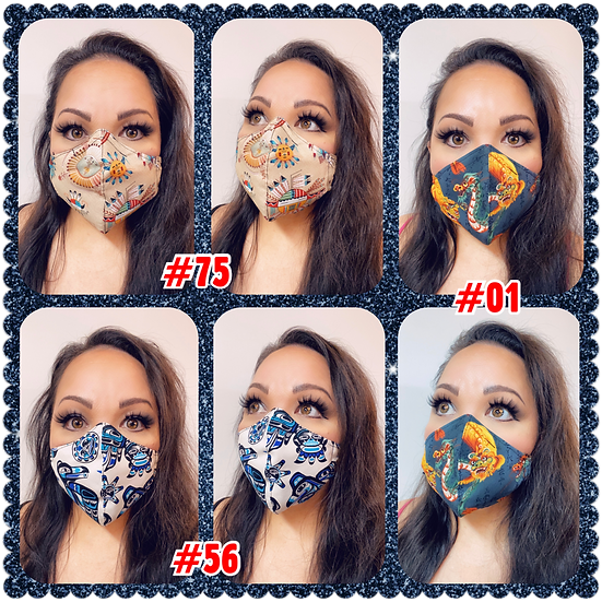 Various Cotton face masks 1