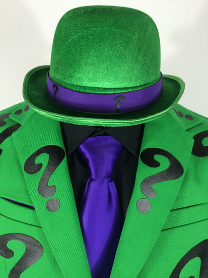 Riddler Suit Jacket with Question Marks & Hat