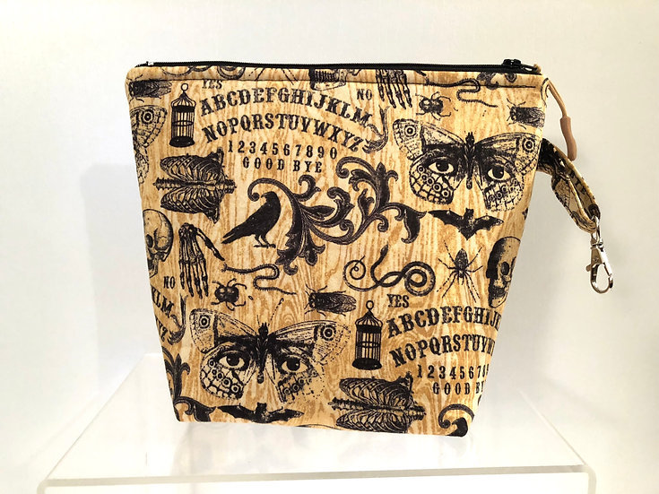 Ouija Board Cosmetic Bag ~ Halloween Bag