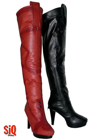 Harley Quinn Arkham City Boot Covers & Boots