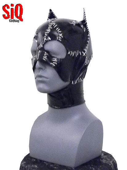 White stitched Catwoman Cowl