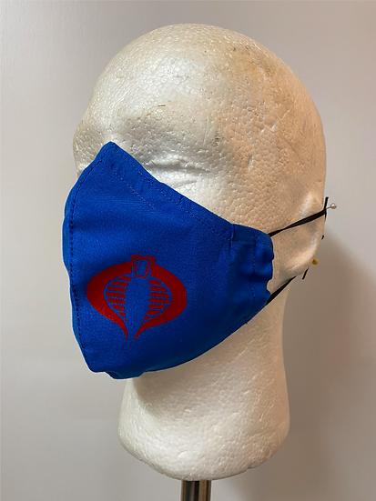 Fabric Face Mask Cobra Style
