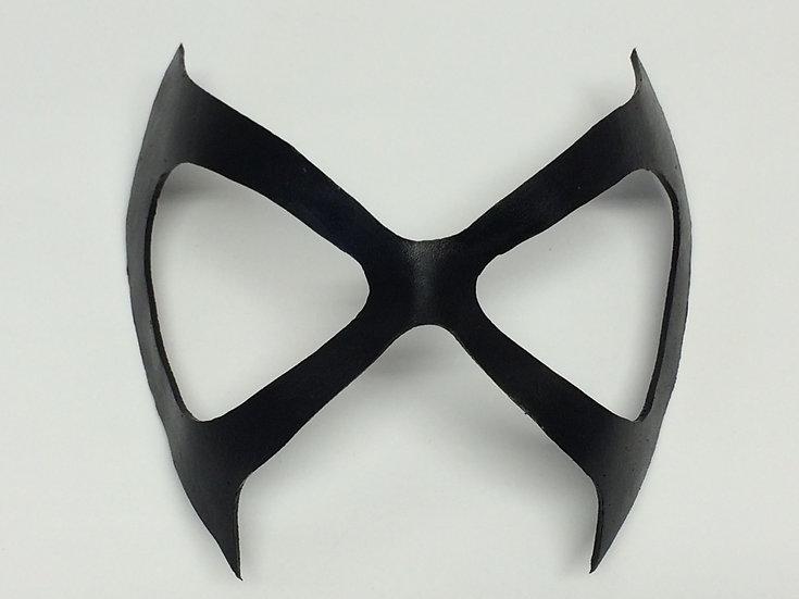 Black Leather Superhero Mask Adult Womens
