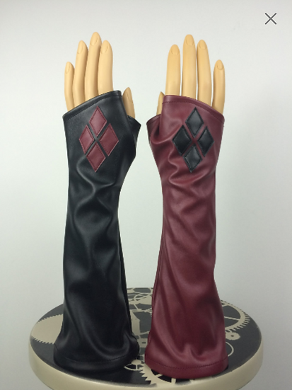 Harley Quinn Arkham City Stretch Gloves LONG
