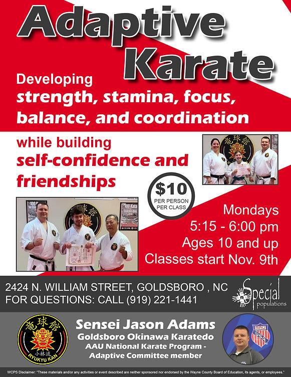 Adaptive Karate Program