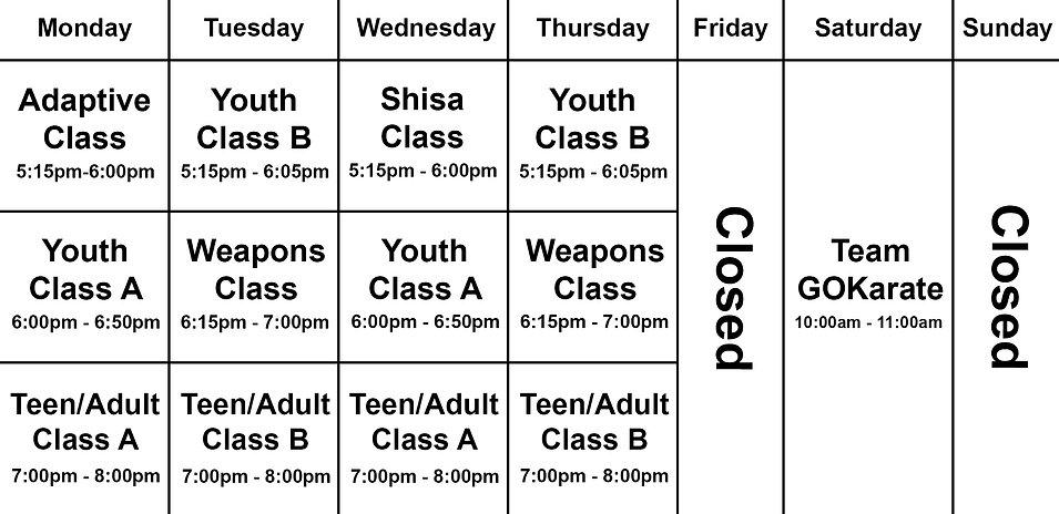 Phase 3 Schedule