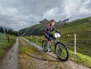 Yanik Pauchard auch auf dem Bike stark!
