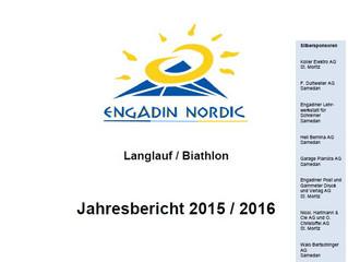Jahresbericht 2015 / 2016 Engadin Nordic