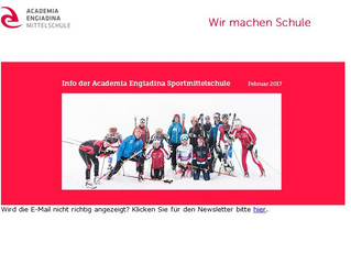 Newsletter unserer Partnerschule Academia Engiadina