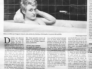 Christophe par Hugues Vassal dans le journal la Nouvelle République