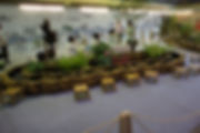 A demonstration of floating tea