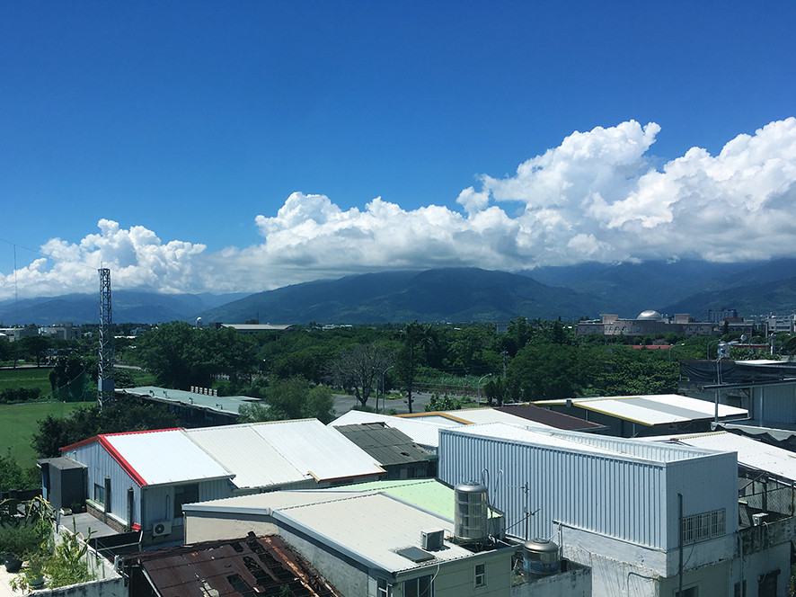 Taitung - the view from our hotel.
