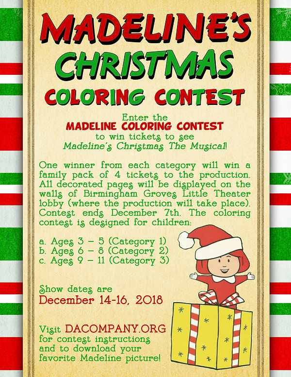 Madeline Coloring Contest Poster 8.5x11