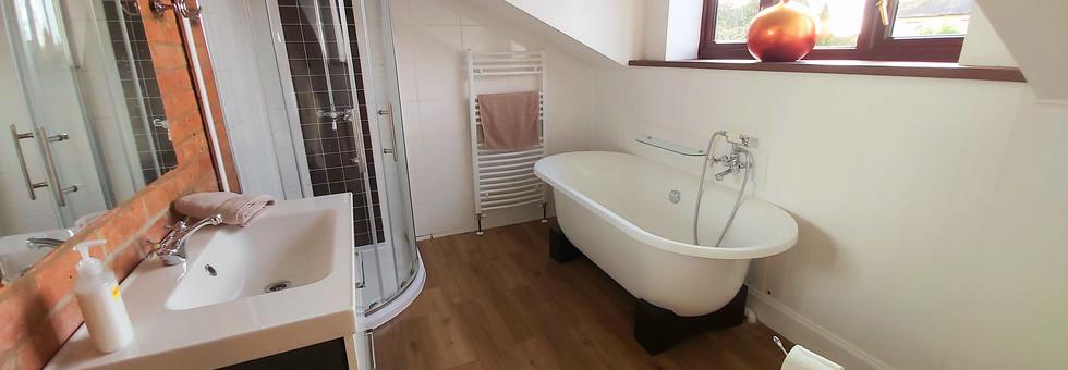 Mews Cottage Holiday  Bathroom Roll top Bath Wiltshire England