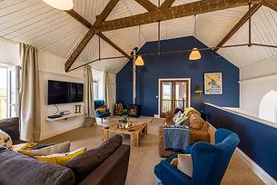 North Lake Chapel Holiday Cottage Open Plan Living Log Burner