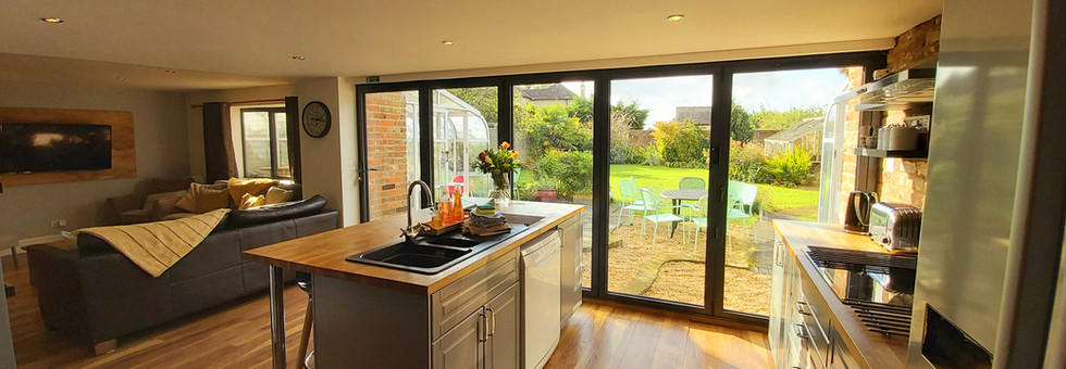 Mews Cottage Holiday Equipped Kitchen Living Room Open Plan Wiltshire England