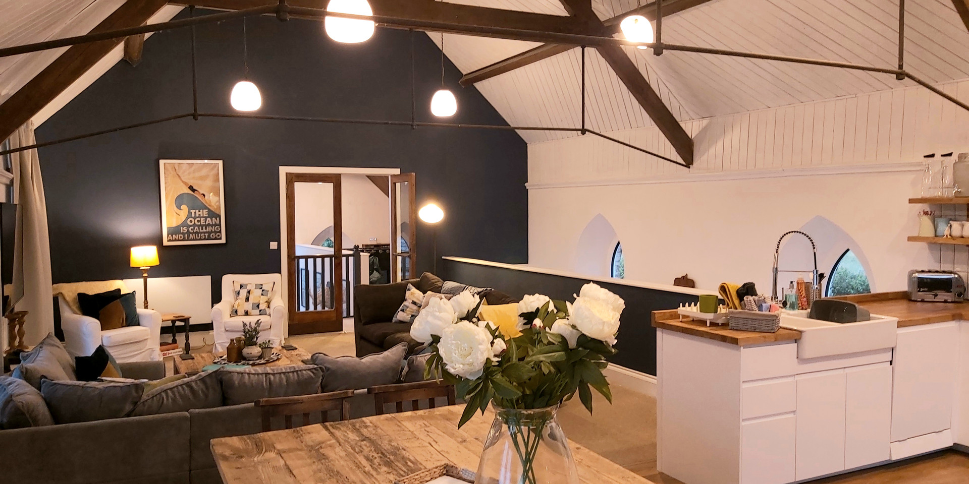 Open plan living, kitchen & dining North Devon Self Catering