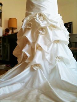 wedding skirt with pick-ups