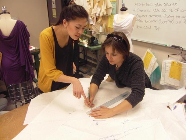 Teaching drafting at FIDM