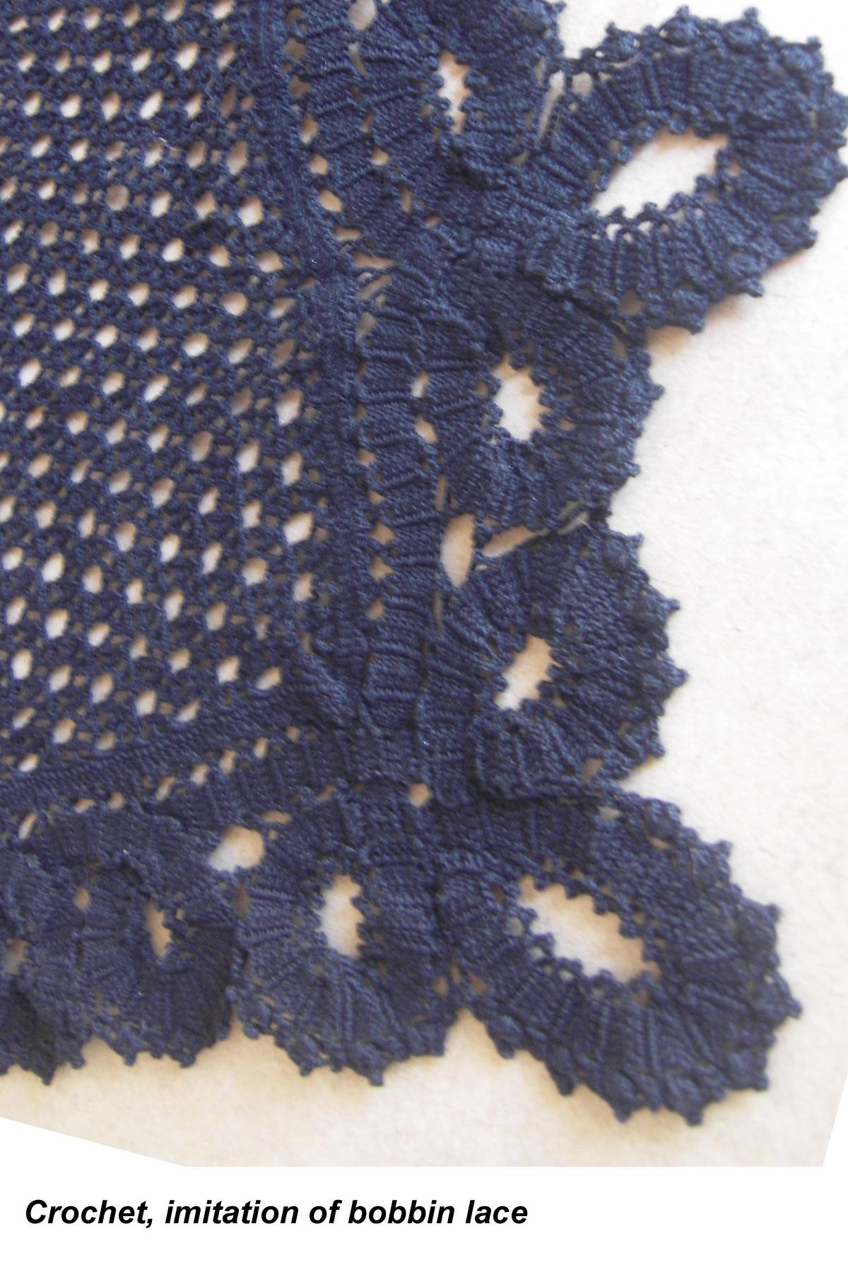 crochet - imitation of bobbin lace