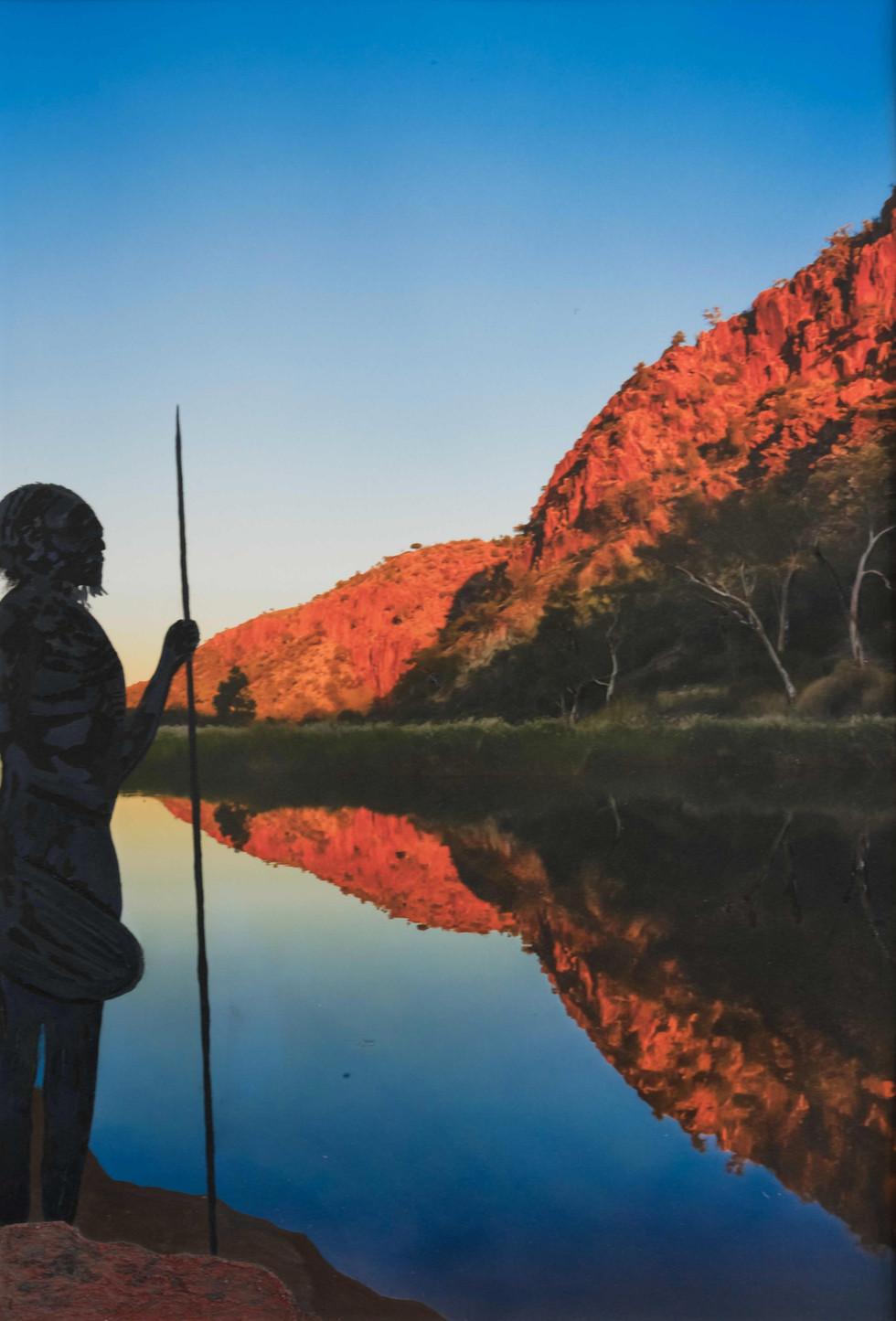 Warrior at Glen Helen Gorge