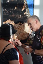 Peter Rowe discussing artworks