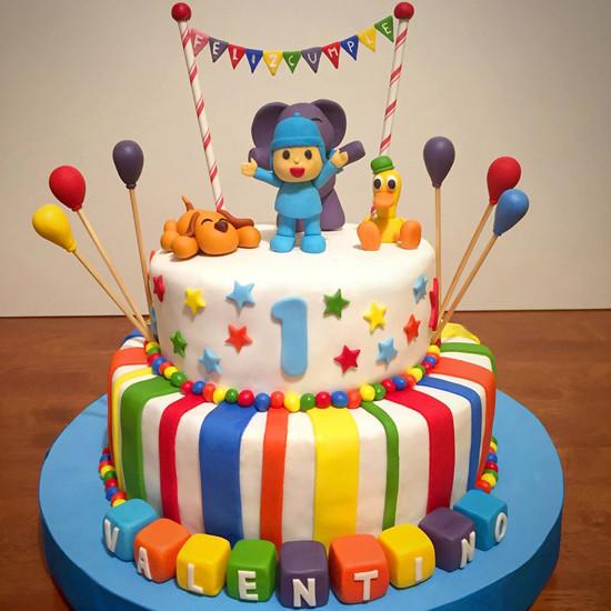Torta de 28 cm (piso inferior) y 20 cm (piso superior)