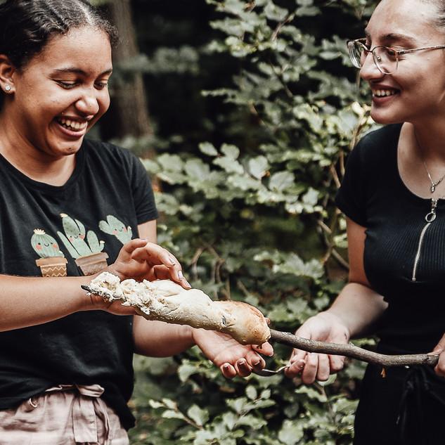 Traumfänger Workshop im Wald