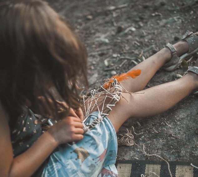 Kindergeburtstag im Wald - Workshop Traumfänger