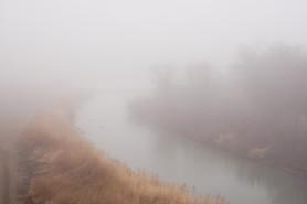 Arkansas River in the Fog