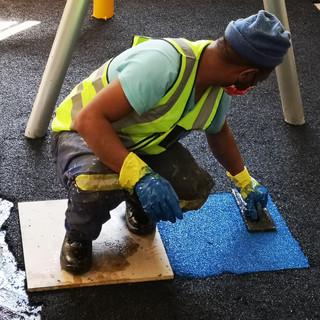 Rubber Flooring Installation