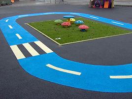 rubberised bike track