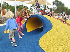 Recycled rubber play area