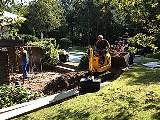 Landscaping, grondverzet door tuintec