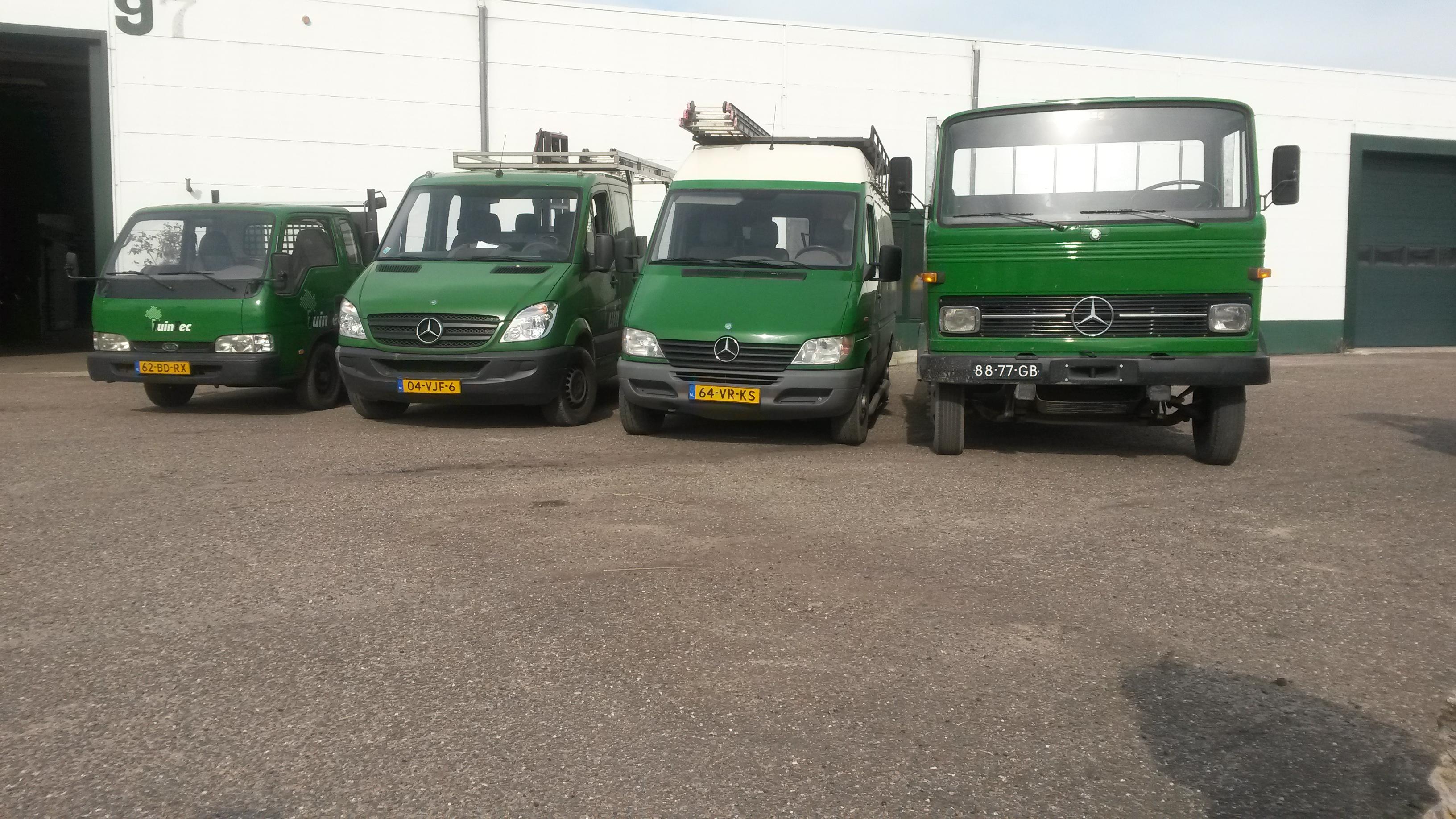 Onze werkauto's