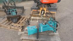 Minigraver aanbouwdelen