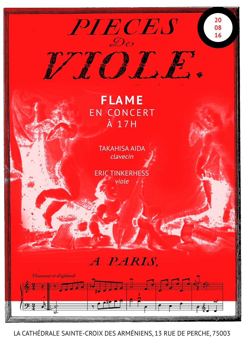 Ne ratez pas le premier concert de Flame cet été!