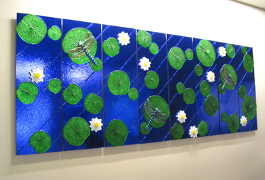 Dragonfly Fused Glass Wall Panels