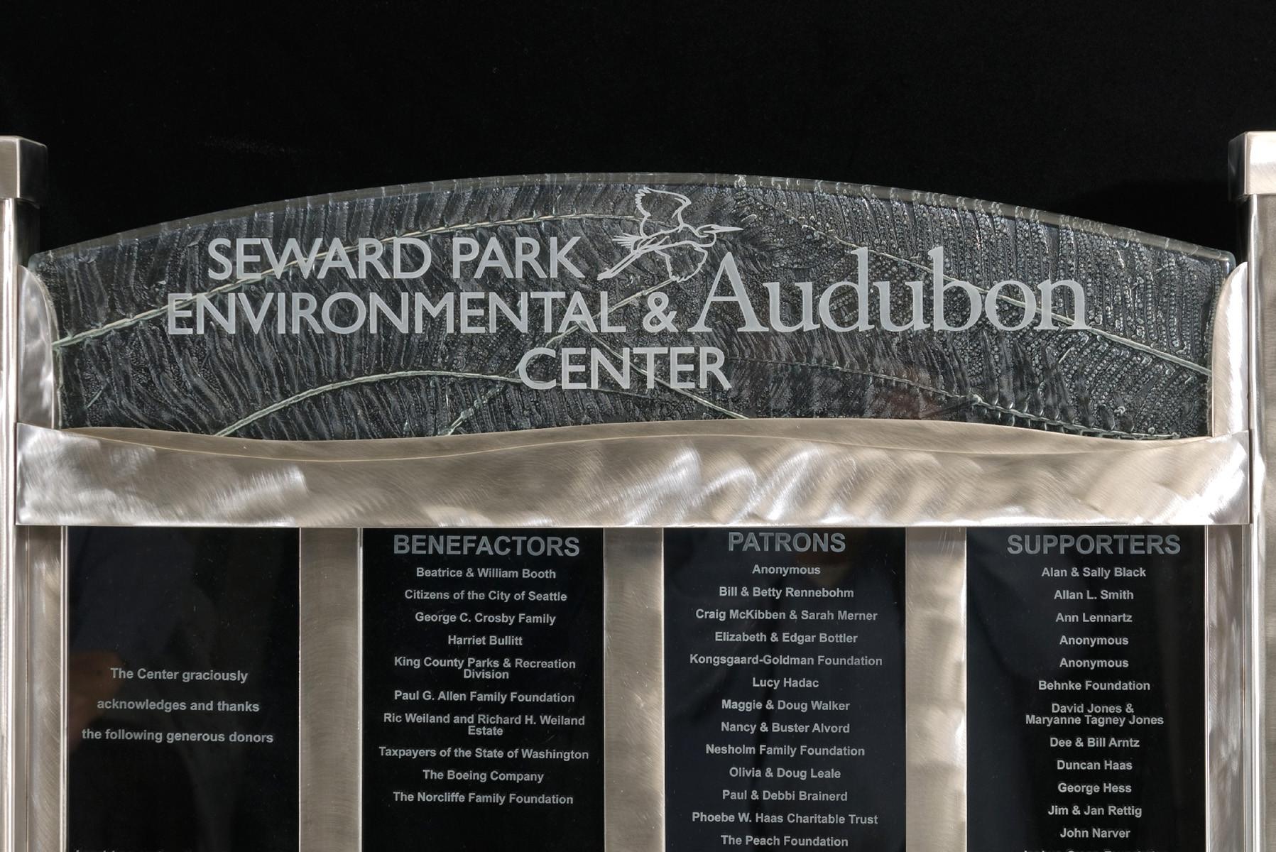 Audubon Fused Glass Donor Wall