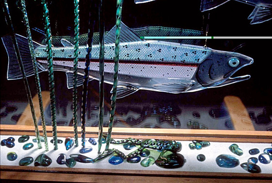 Fused Glass Trout