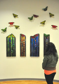 Fused Glass Butterfly Panels