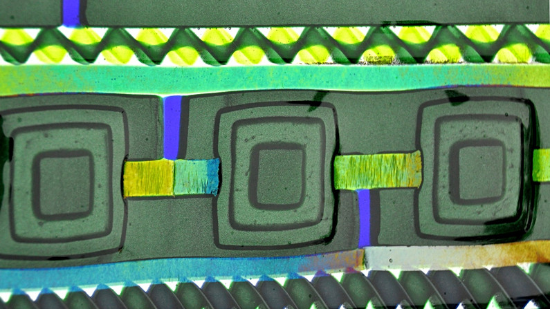 Green Fused Glass Wall Panel
