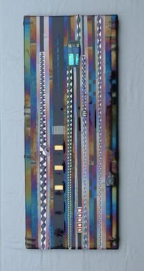 Purple Fused Glass Wall Panel